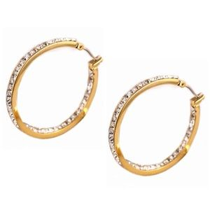 Michael Kors Crystal Inside Out Hoop Earrings
